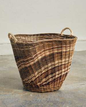 A sculptural basket woven by Julie Gurr, one of the five chosen for the Toast New Makers scheme