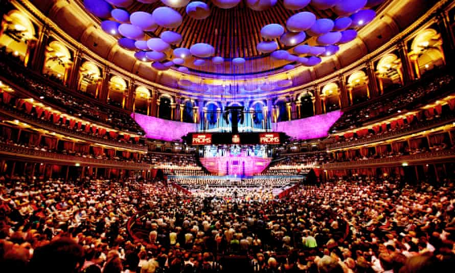A full house at the BBC Proms in the Royal Albert Hall, London. The season will reopen at full capacity this year, after concerts were held to an empty room in 2020.