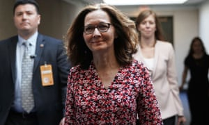CIA director nominee Gina Haspel on Capitol Hill 7 May.