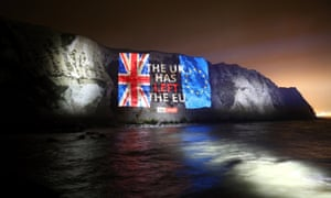 A farewell message on the white cliffs from Sky News.