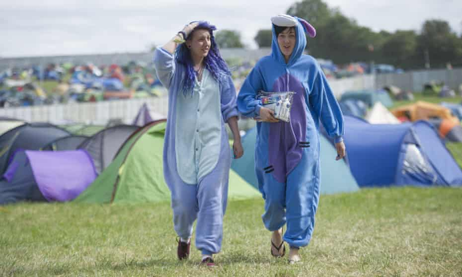 Young people at Glastonbury
