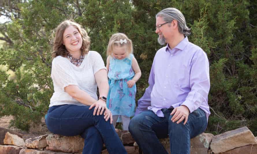 Erin Elizabeth Wells with her husband, and daughter Eleanor.