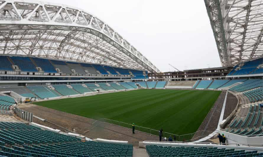 The stadium in Sochi for the 2018 World Cup