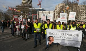 An anti-knife crime protest in London