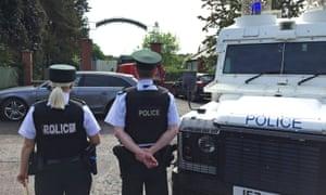 Police outside Shandon Park golf club in Belfast