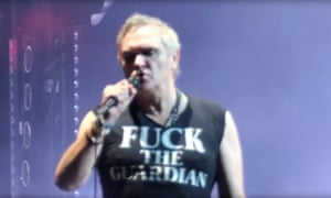 Earlier this month Morrissey ejected an anti-far-right protester from his gig in Portland.