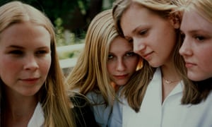 From left, Leslie Hayman, Kirsten Dunst, A.J. Cook and Chelse Swain appear in Sofia Coppola's adaptation of The Virgin Suicides.
