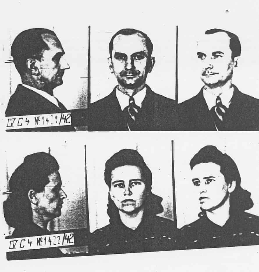 Gestapo mugshots of Otto and Elise Hampel