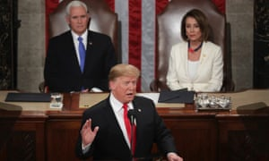 Donald Trump delivers the State of the Union address