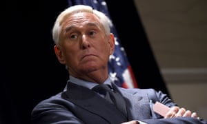 Roger Stone speaks to the press in Washington DC on 31 January.
