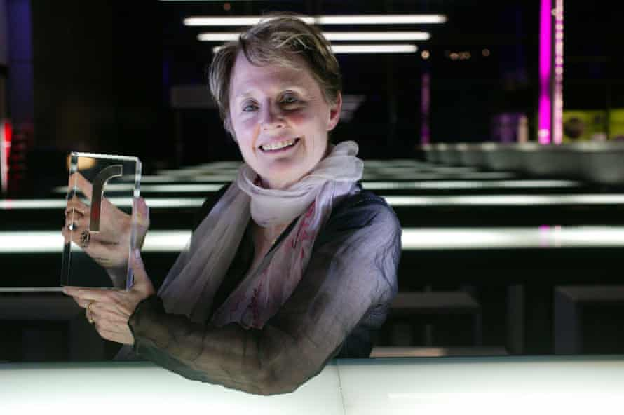 Chef Alice Waters recieves her lifetime achievement award at the St Pellegrino World's 50 Best Restaurants 2007 at the Science Museum, London.