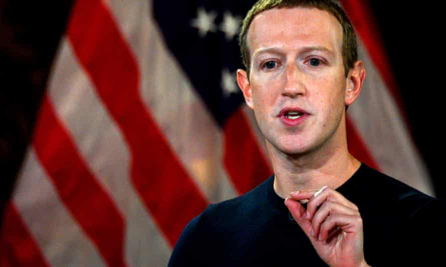 Mark Zuckerberg speaks at Georgetown University.