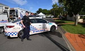 Police at the scene of a fatal shooting in Brisbane
