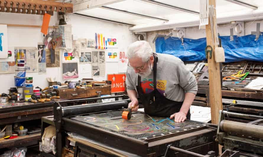 Alan Kitching in his workshop.