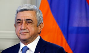 The protests were sparked by Serzh Sargsyan's decision to take up the post of prime minister after more than a decade as president.