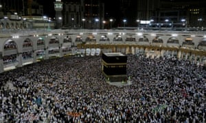 Muslim pilgrims circle the Kaaba and pray at the Grand mosque at the end of their Haj pilgrimage in the holy city of Mecca, Saudi Arabia 13 August, 2019.