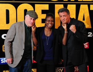 Since her gold medal win Adams was in demand to attend award ceremonies and film premiers such as the film Grudge Match - a sports comedy film starring Robert De Niro and Sylvester Stallone as aging boxers stepping into the ring for one last bout