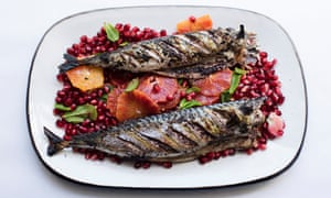 Fish of the day: mackerel with sumac and orange.