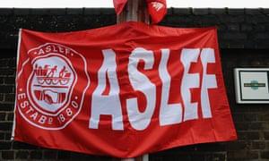 Aslef banner
