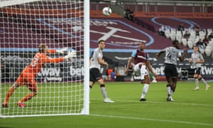 Sébastien Haller scores for West Ham in the Carabao Cup against Charlton this week. He has not looked a striker worth £45m.