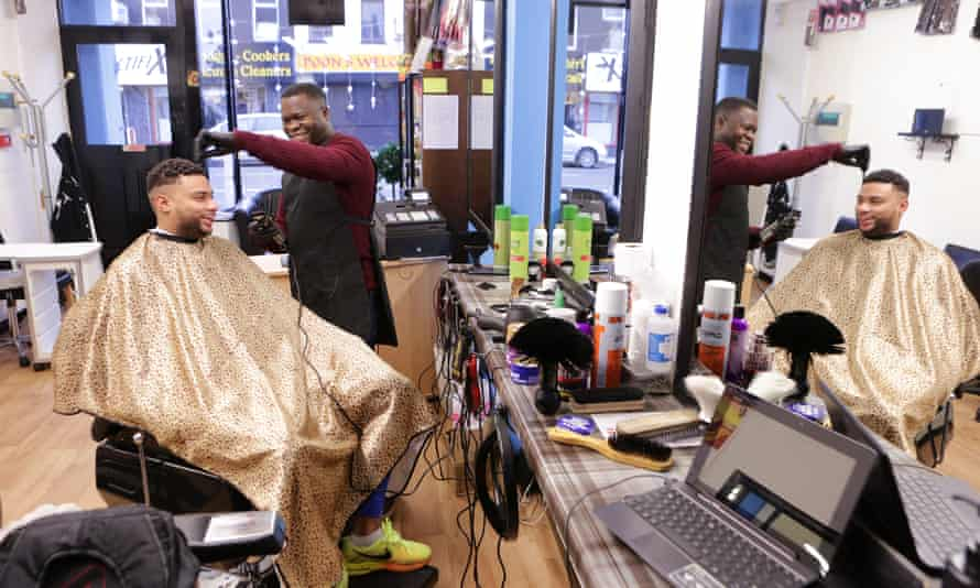 'Everything is good in Ireland,' says Brazilian barber Saturnino Neves, who runs a business in Portadown.