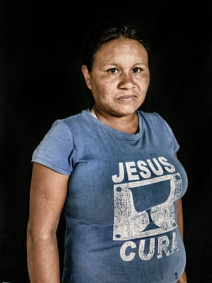 Joceinete da Silva, 30, who works in the kitchen during the assembly in the Indigenous Training Center of Raposa Serra do Sol in Surumu. She is from the Macuxi tribe in the Uiramutã indigenous community