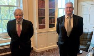 Boris Johnson with Lee Anderson MP inside No 10