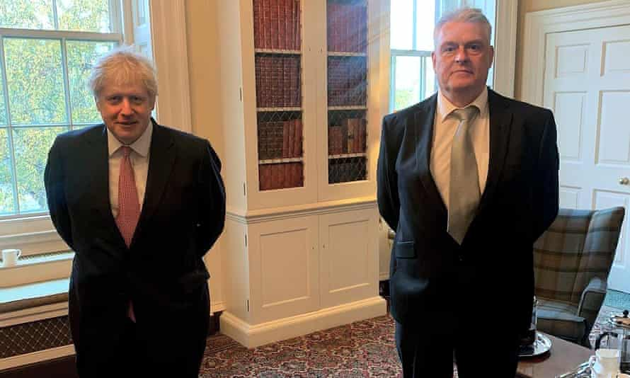 Prime minister Boris Johnson with MP Lee Anderson at their meeting on Thursday.