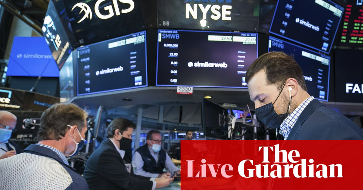 Markets fall again as inflation worries rattle investors – business live