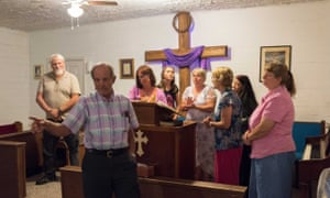 There are still well over two dozen churches in and near town. Some are small, like the House of Worship, a two-room house on a rural road. Without a formal preacher, every member of the congregation is welcomed to sing, preach or speak