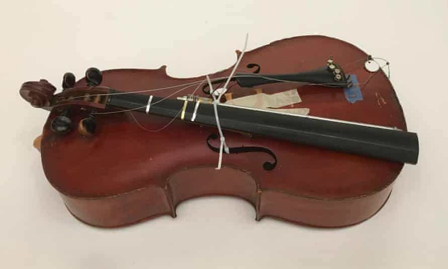 One of the 1,500 instruments that will be part of the Symphony for a Broken Orchestra.