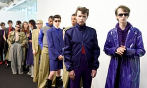 London, UKModels backstage ahead of the John Lawrence Sullivan show during the London Fashion Week Men's June 2017 collections
