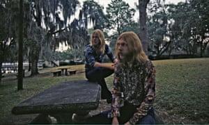 Gregg Allman, left, and Duane Allman seen in Muscle Shoals, Alabama in 1970.