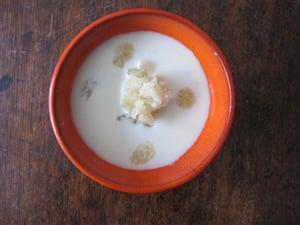 Ajo blanco as taught in Movida.