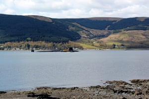 A submarine in the waters of the loch