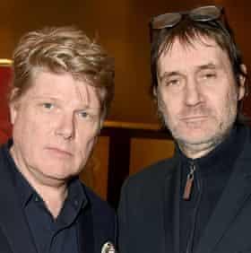 Bond fixtures … writers Robert Wade, left, and Neal Purvis.