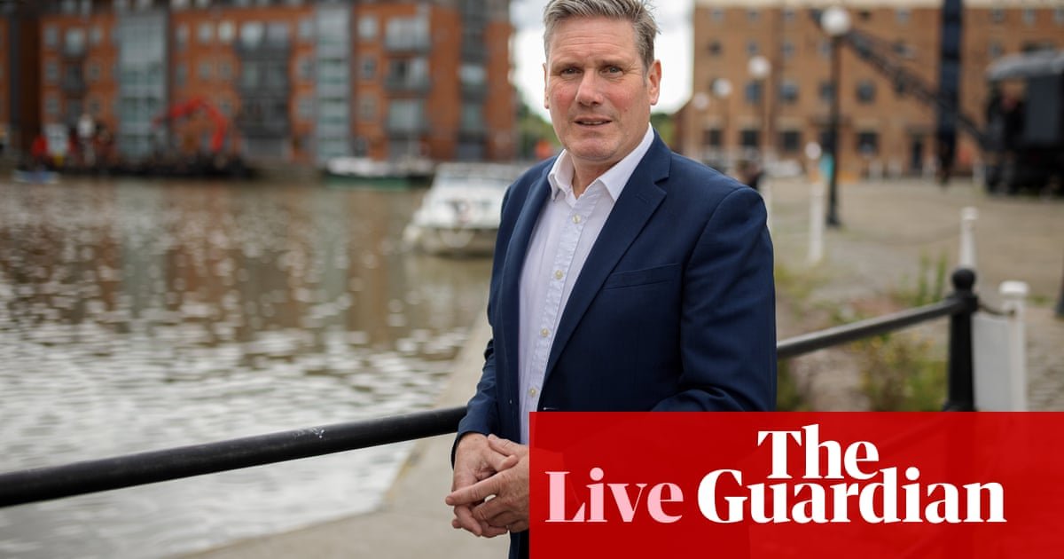 UK politics: Starmer says Labour will not back plan to raise national insurance to fund social care – live