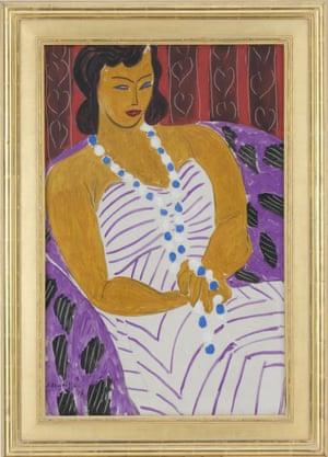 Henri Matisse, Dame à la robe blanche (Woman in white),1946