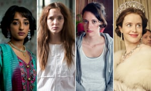 A striking new trend in TV … (from left) Kiran Sonia Sawar in Murdered By My Father, Jodie Comer in Thirteen, Phoebe Waller-Bridge in Fleabag and Claire Foy in The Crown.