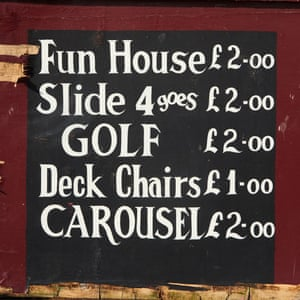 A sign on the North Pier promises entertainment