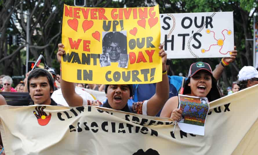 Families and supporters of the Bowraville murder victims march for justice in Sydney in 2013