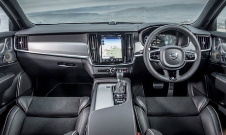 Inside story: the bright interior of the V90 with its portrait style infotainment screen