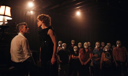 Playable shows … a masked audience watch Sleep No More in New York.