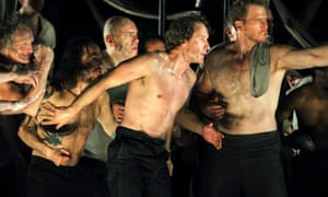 The extremes of good and evil ... Jacques Imbrailo (centre) as Billy Budd, with Duncan Rock (right) as Donald