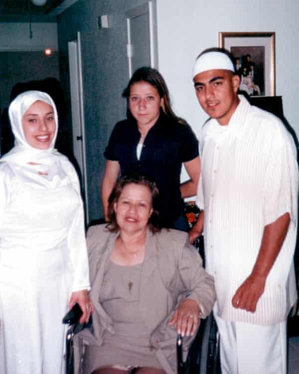 Jaime 'Mujahid' Fletcher on his wedding day in 2001.