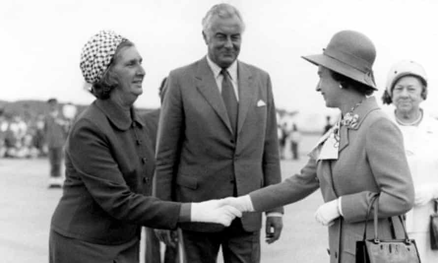 Gough Whitlam and his wife Margaret greet the Queen at the opening of the Sydney Opera House in October 1973.