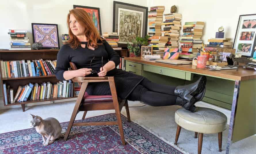 Gina Wilkinson at her desk.