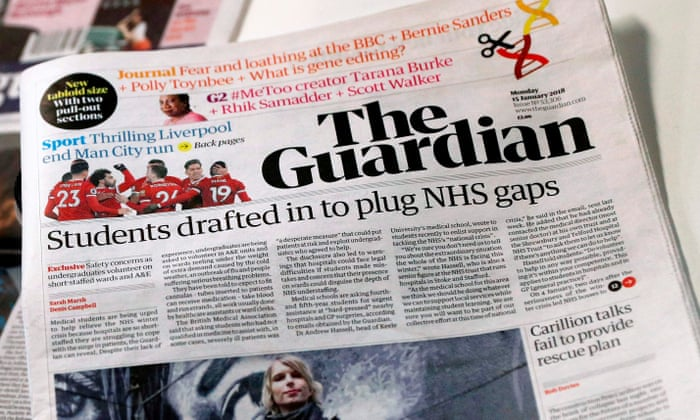 the guardian s new look readers and rivals respond media the