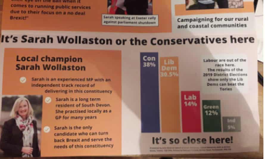 Lib Dem leaflets in Totnes enraged some voters.