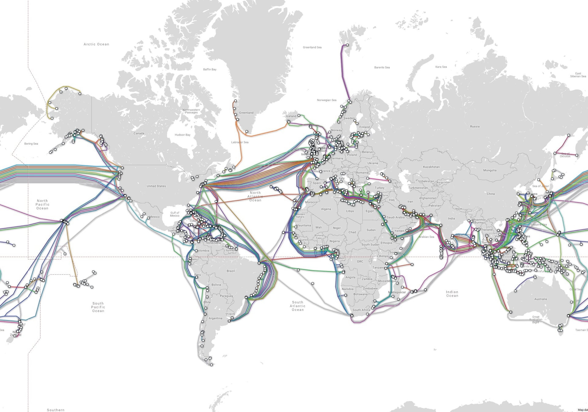 map of internet cables